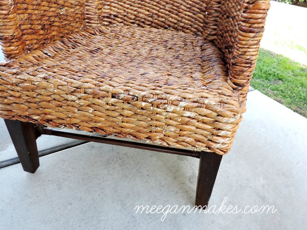 rattan chair front