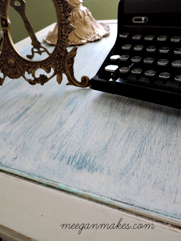 End Table Distressed