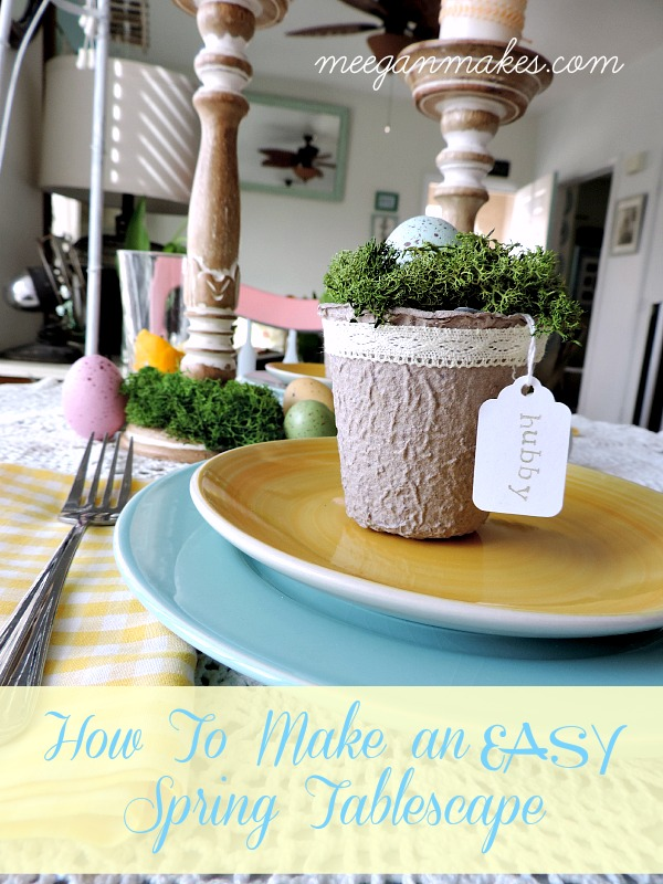 How To Make an EASY Spring Tablescape