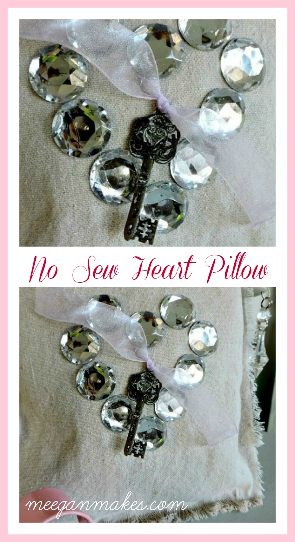 No Sew Heart Pillow by meeganmakes.com