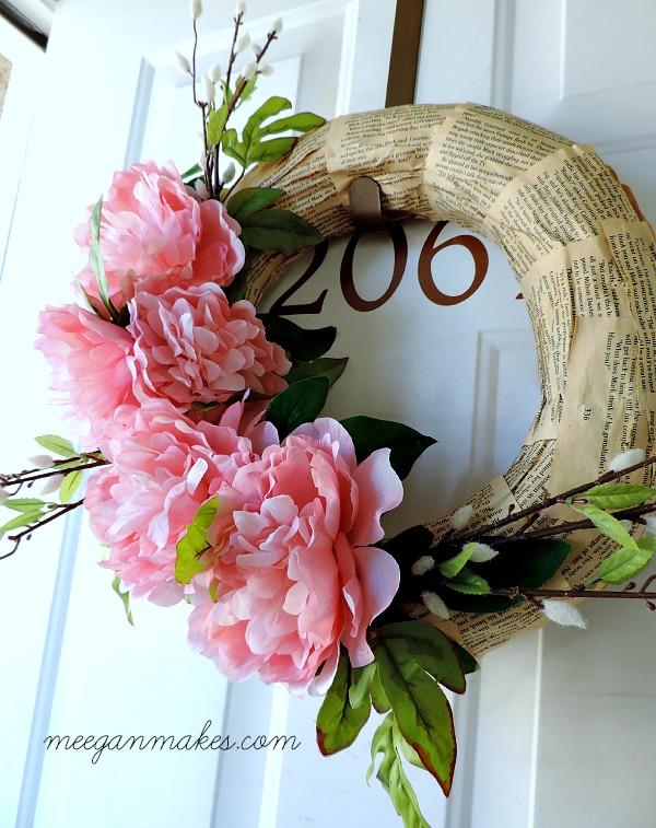 Pink Peony Spring Wreath