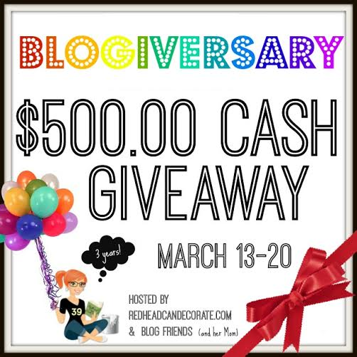 Redhead Can Decorate Cash Giveaway
