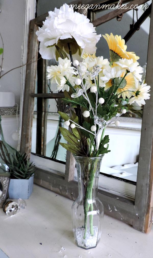 Spring Floral Arrnagement withCrystals
