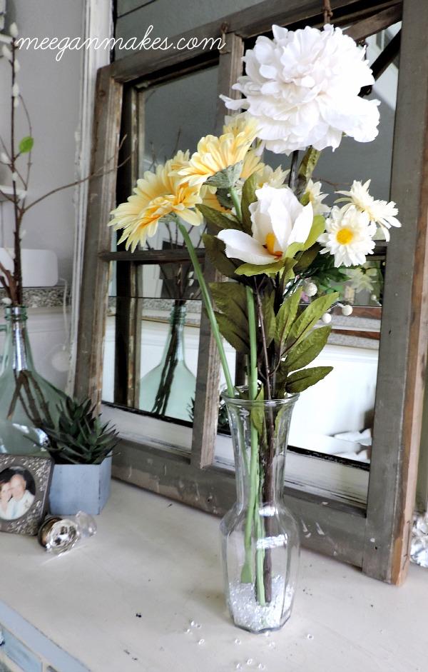 Spring Flower Arrangement with Crystals