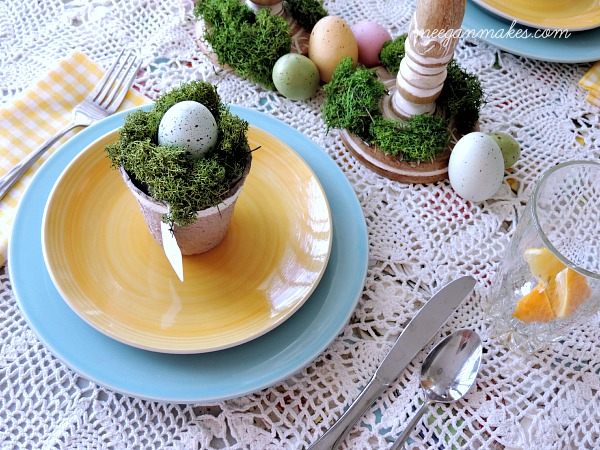 Spring Table with Yellow and Blue
