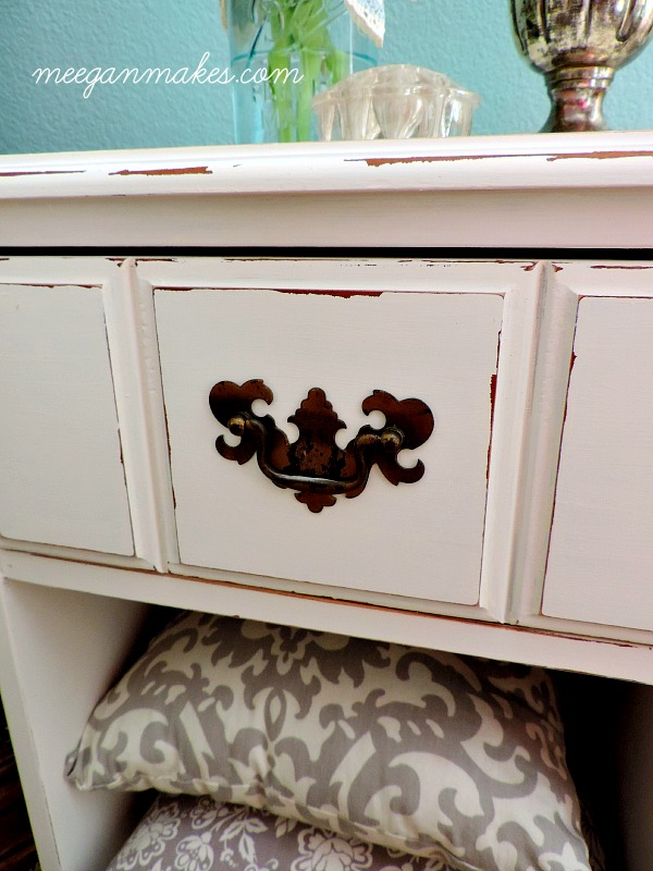 Aged PB End Table Knock Off