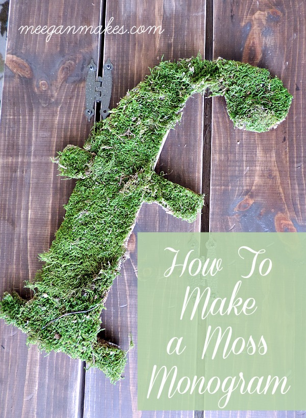How To Make a Moss Monogram