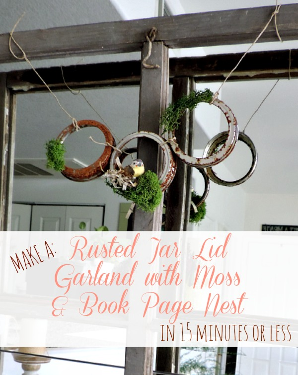 Make a Rusted Jar Lid Garland in 15 Minutes or Less