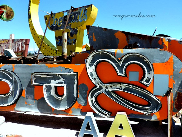 Neon Museum Signs Mod Podge
