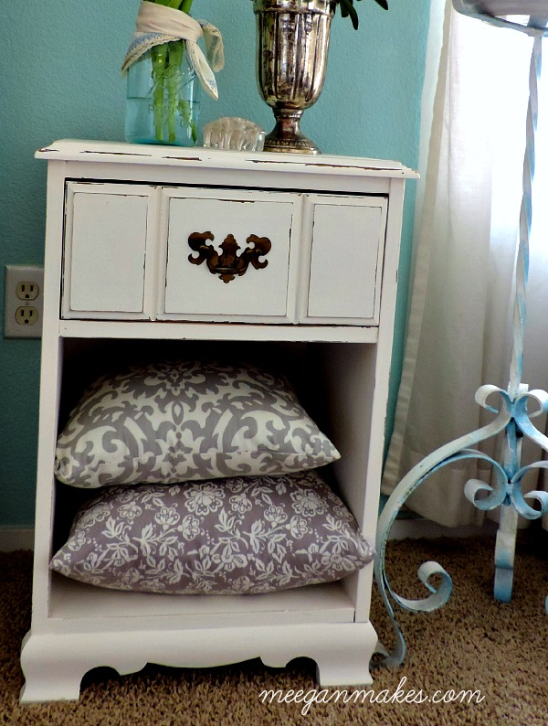 PB Inspired Night Stand with Pillows