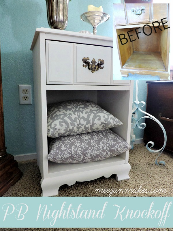 PB Nightstand Knockoff Before and After