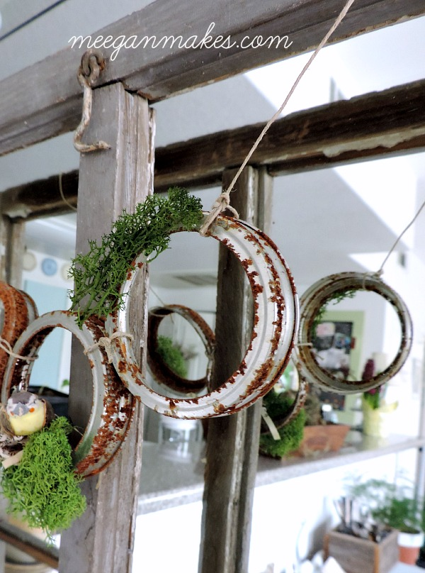Rusted Jar Lid Garland