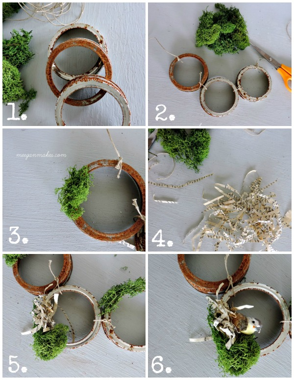 Rusted Jar Ring Garland