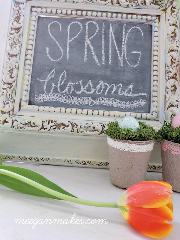 Spring Blossoms Chalkboard