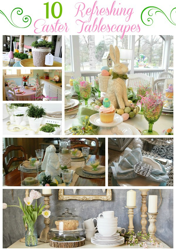 Ten Refreshing Easter Tablescapes