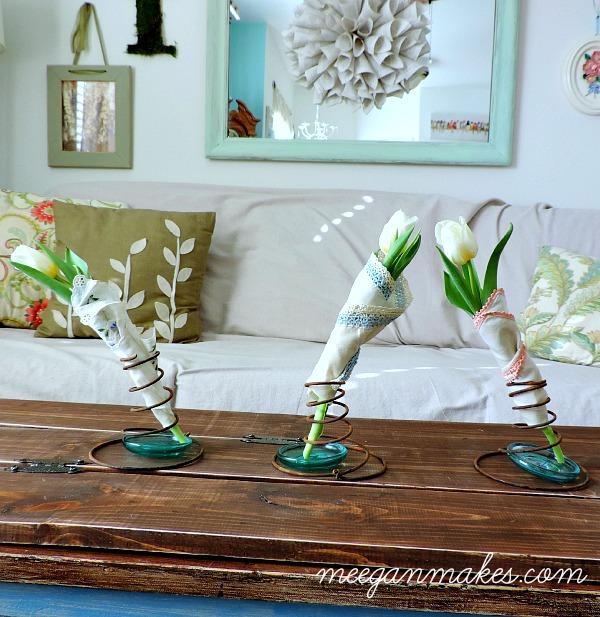 Vintage Box Spring Vases