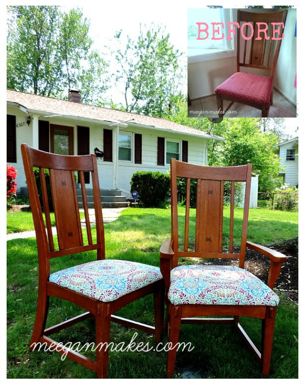 Dining Chairs Before and After
