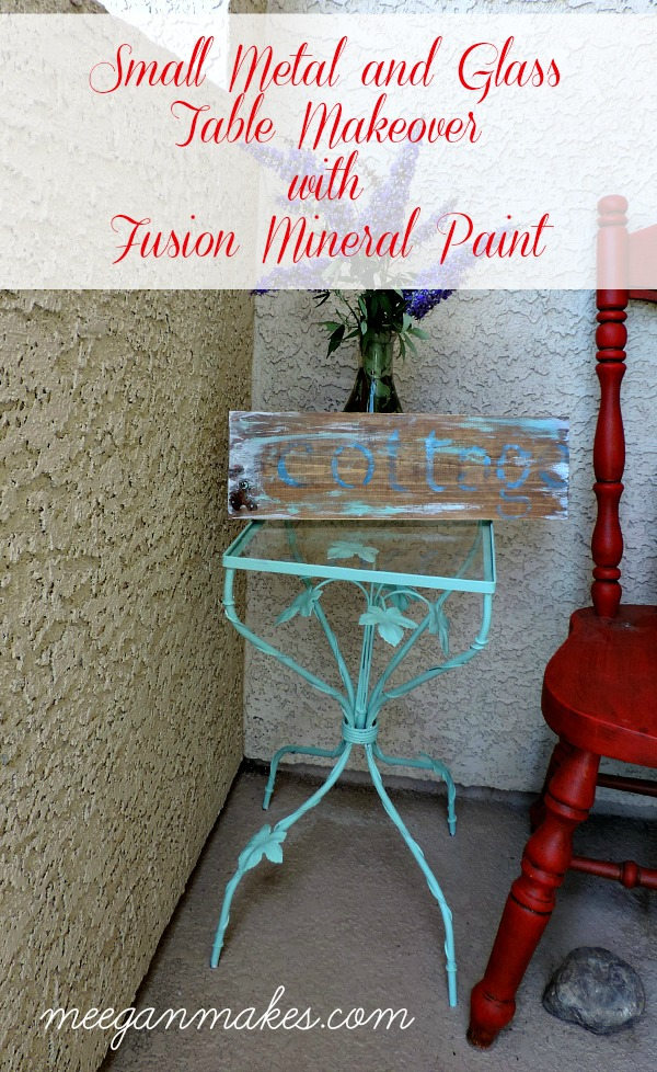 Small Metal and Glass Table Makeover with Fusion Mineral Paint