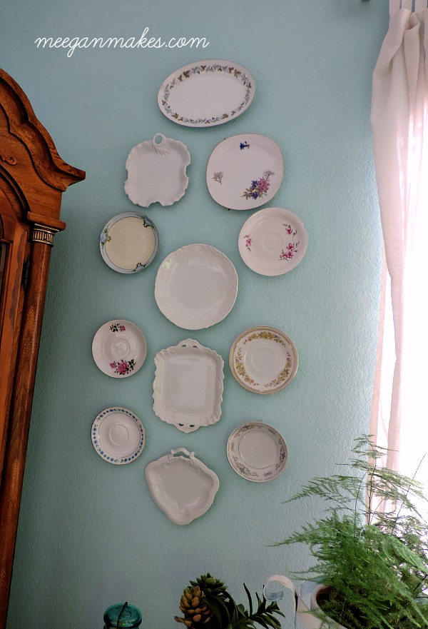 Tea Saucer and Plate Gallery Wall