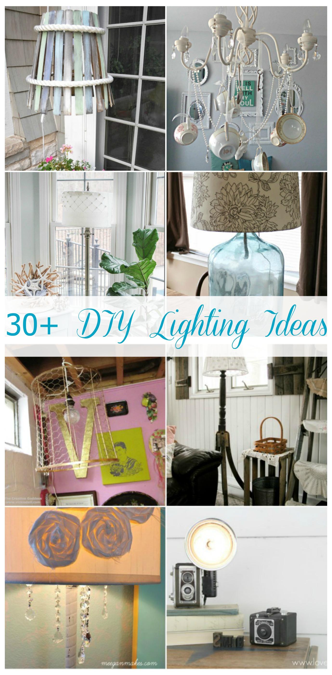 30+ DIY Lighting Ideas