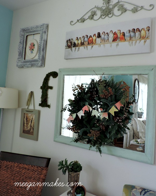 Balsam Hill Mountain Meadow Wreath with Banner