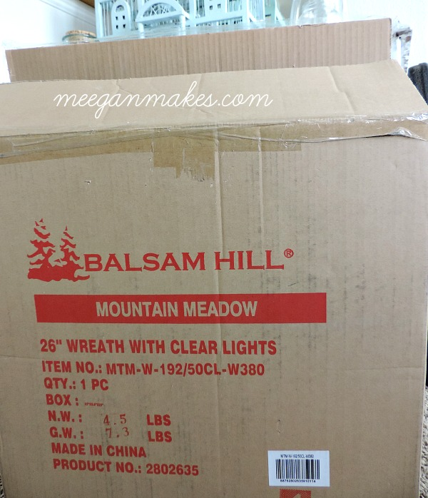 Balsam Hill Wreath arrives in a secure box