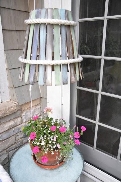 DIY Paint Stick Lamp