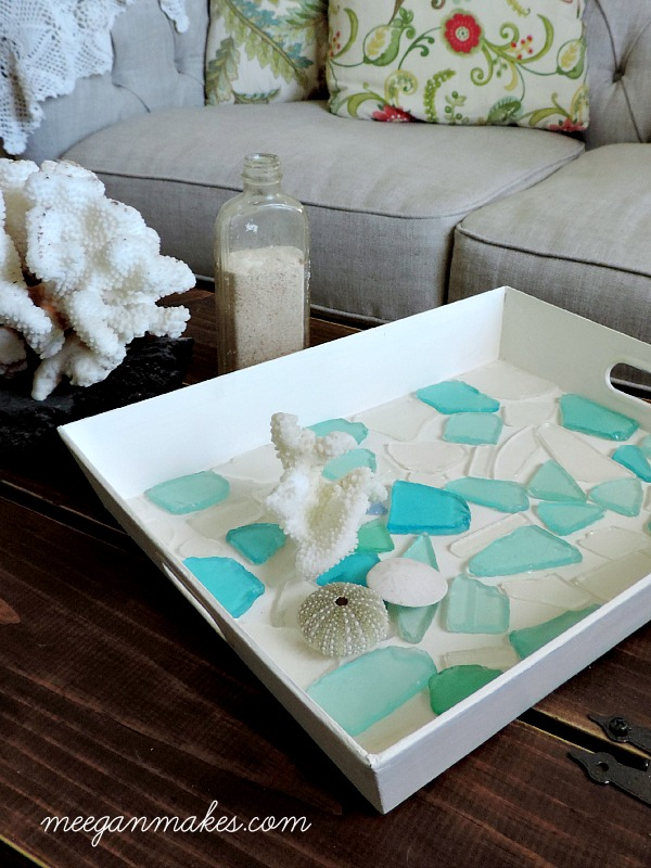 DIY Sea Glass Tray For Under $15