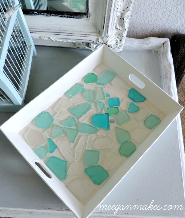 DIY Sea Glass Tray