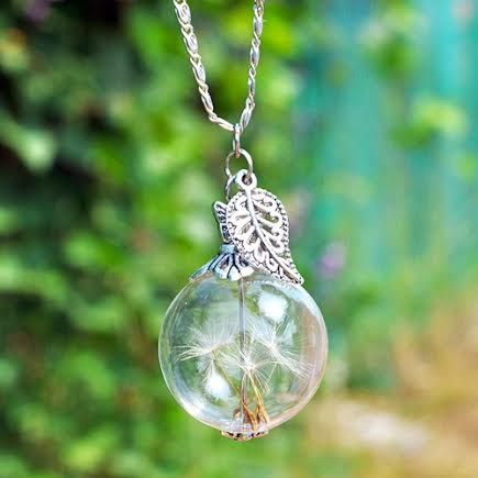 Dandelion Orb Necklace