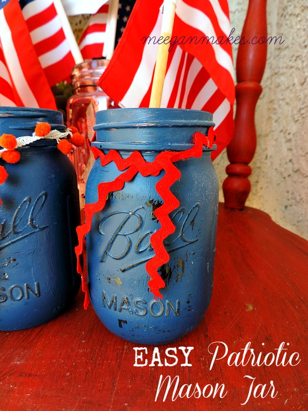 Easy Patriotic Mason Jar