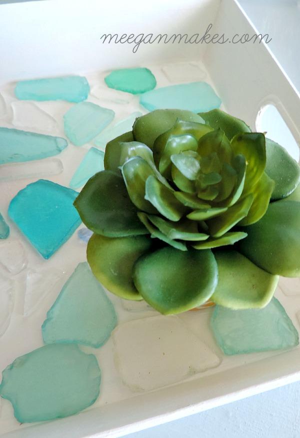 Easy Sea Glass Tray Under $15
