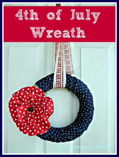 Fourth of July Wreath Button