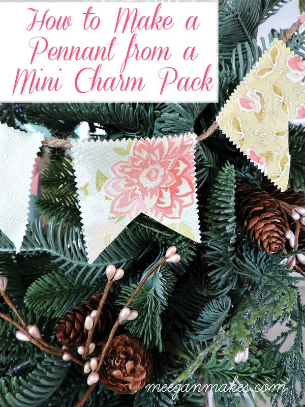 How to Make a Pennant from a Mini Charm Pack