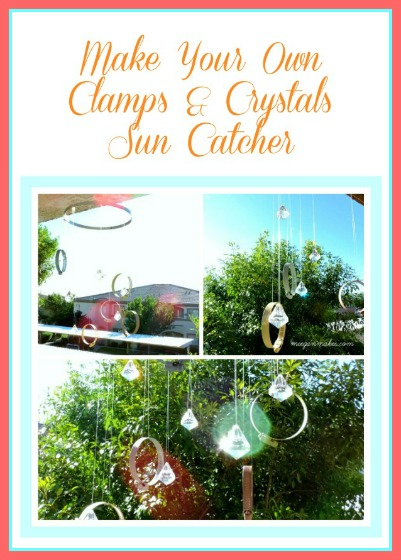 Make You Own Clamps & Crystals Sun Catcher Button