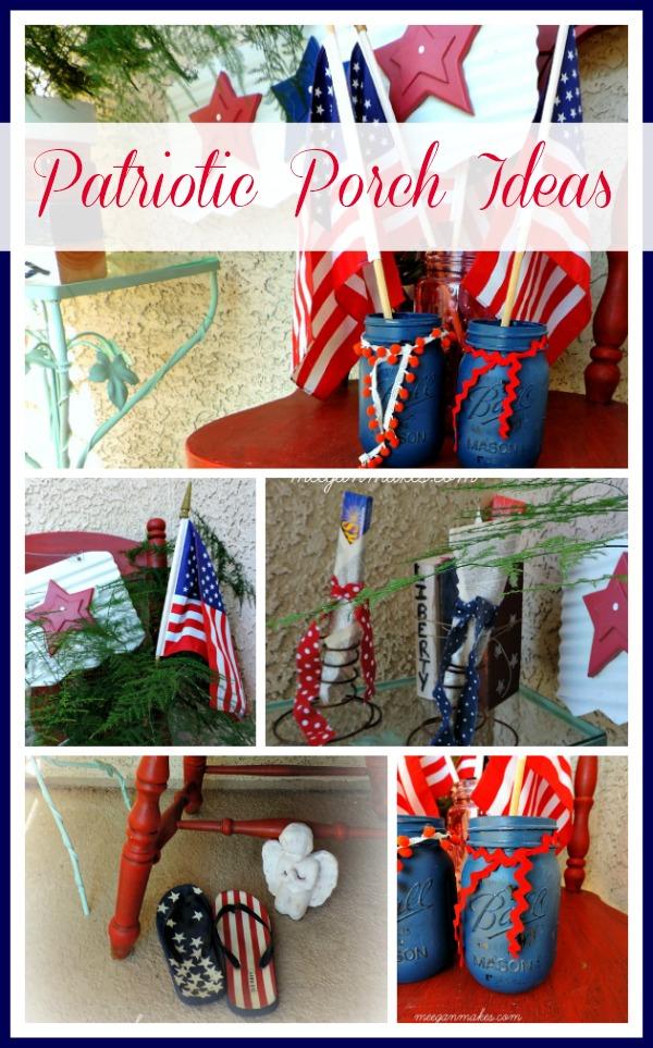 Patriotic Porch Ideas Collage