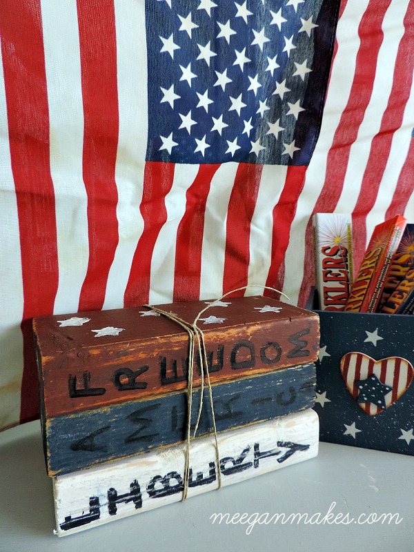 Patriotic Wooden Books1