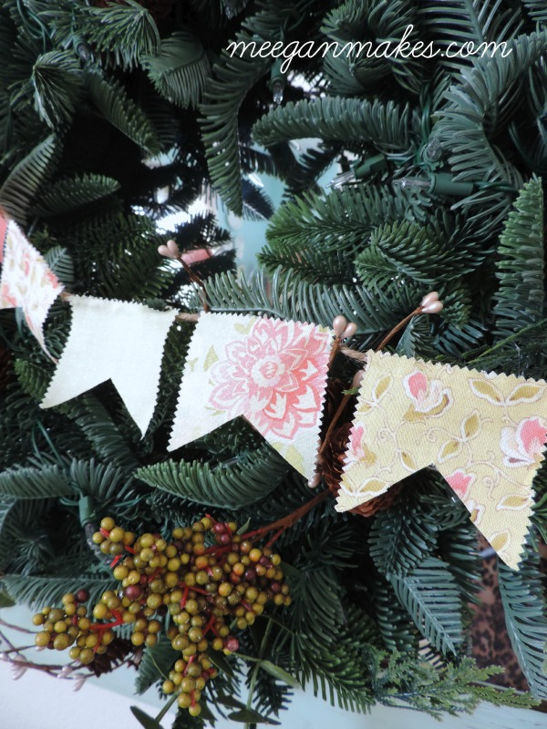 Pennant made from Jelly Roll fabric