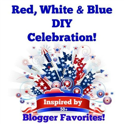Red White and Blue DIY Celebration Button
