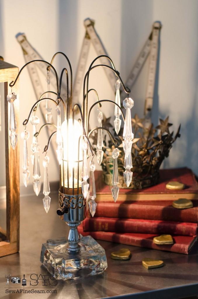 Rewiring-a-vintage lamp