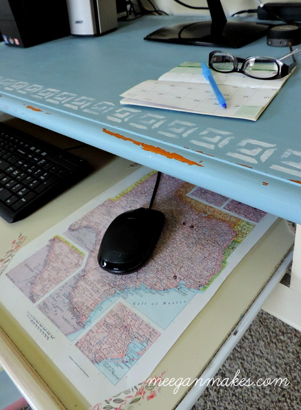 Rustic Map Mouse Pad