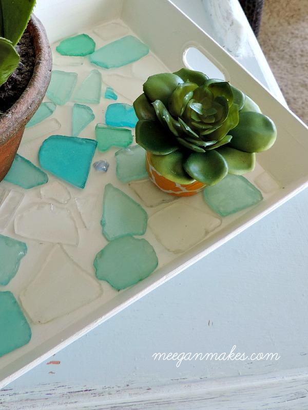 Sea Glass Tray under $15