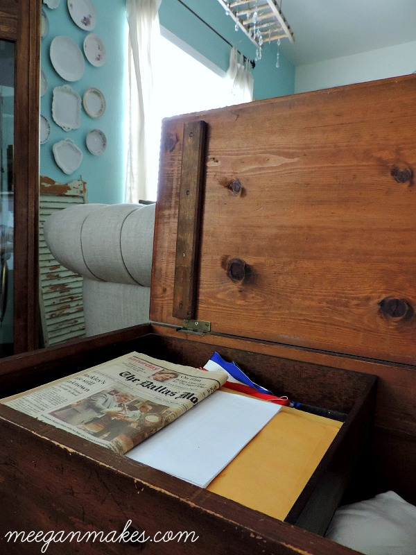 Vintage Chest with Tray