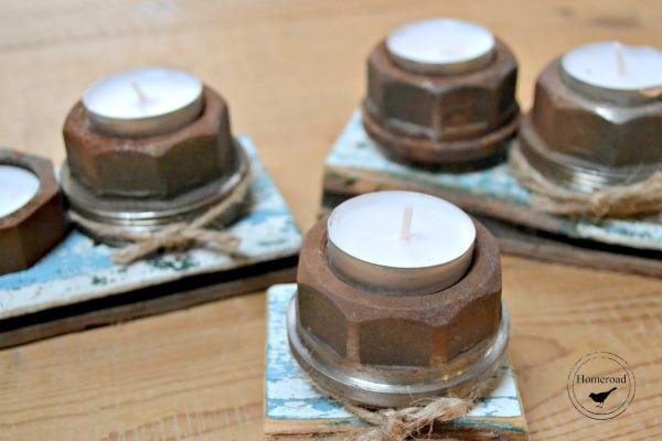 rusty tea light candles