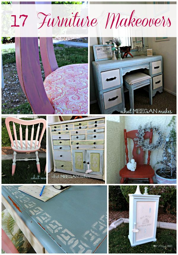 17 Furniture Makeovers by meeganmakes.com