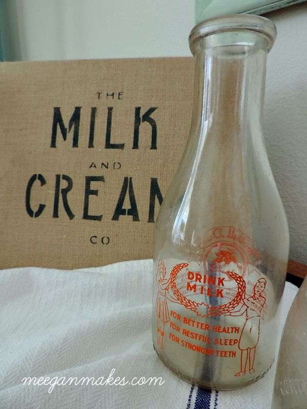Drink Milk Vintage Bottle