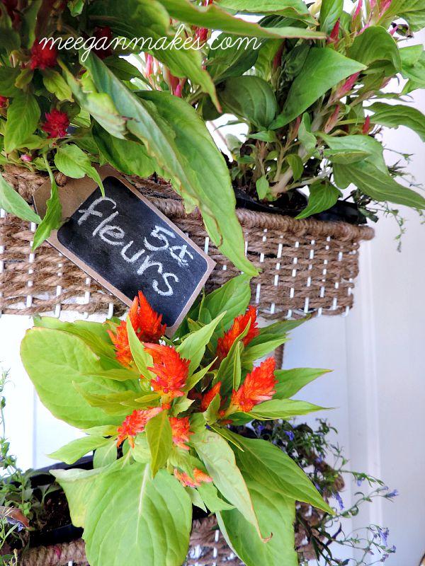 Fleur Basket from a Spice Rack