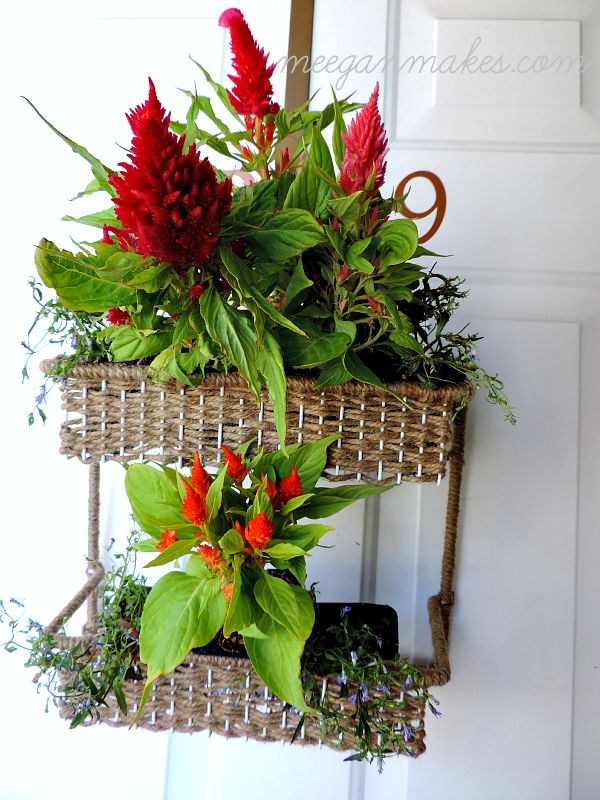 Flower Basket from a Spice Rack