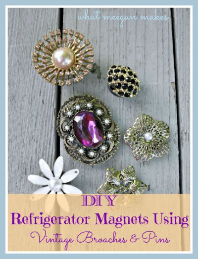 How To Make Refrigerator Magnets using Broaches and Pins Button
