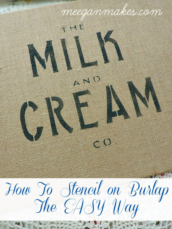 How To Stencil On Burlap The Easy Way